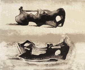 Henry Moore - due reclinabili figure 9