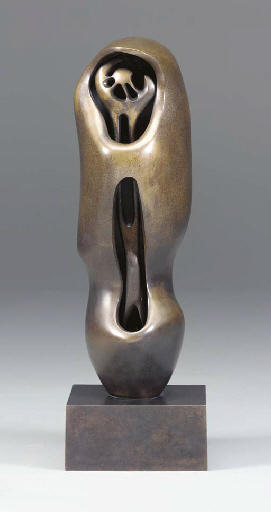 Upright Internal.External Form; Fiore, olio di Henry Moore (1898-1986, United Kingdom)