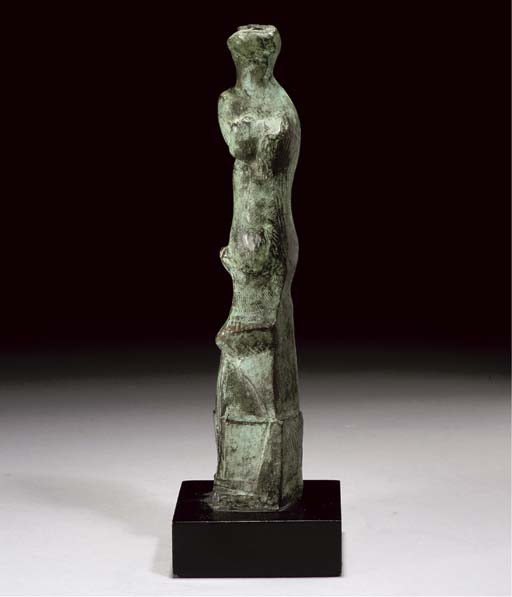 Motive Upright D, incisione di Henry Moore (1898-1986, United Kingdom)