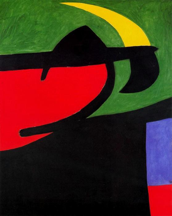 Labriego catalano it claro de luna, olio di Joan Miro (1893-1937, Spain)