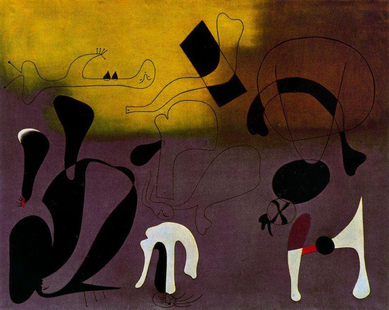 Pintura 2, incisione di Joan Miro (1893-1937, Spain)