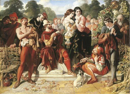 The Scene Wrestling in Come vi piace di Daniel Maclise (1806-1870, Ireland) | ArtsDot.com