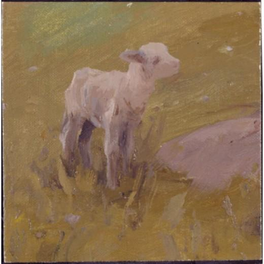 Agnello, disegno di Eanger Irving Couse (1866-1936, United States)