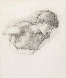 Edward Coley Burne-Jones - Studio figura per -Love-s Wayfaring- oppure -The Auto di Love-