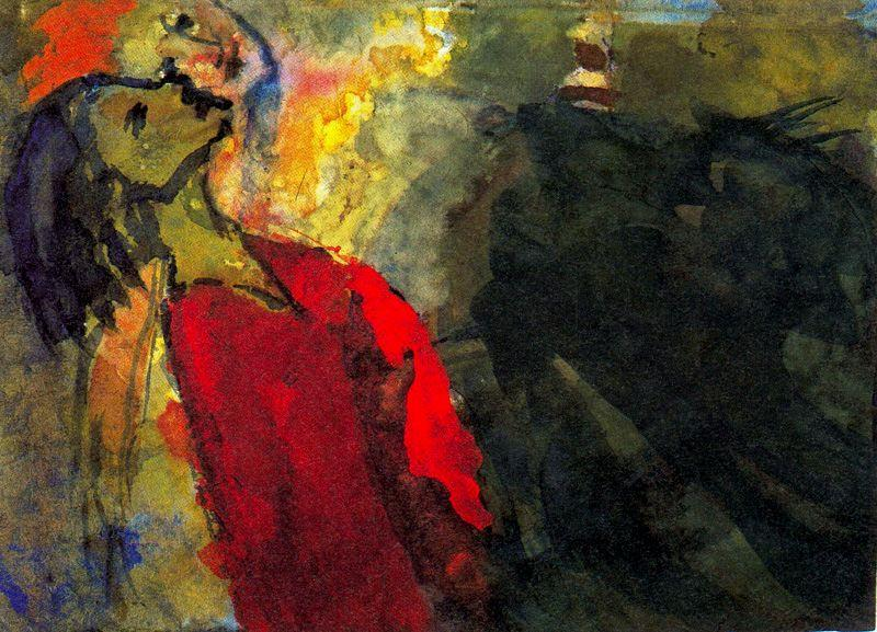 Figure allungavano il collo di Emile Nolde (1867-1956, Germany)