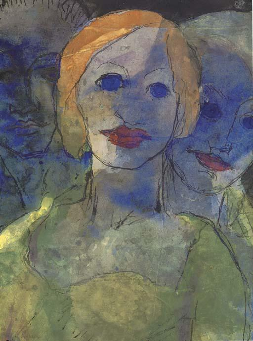Phantasie di Emile Nolde (1867-1956, Germany)