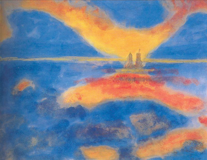 rosso cloud di Emile Nolde (1867-1956, Germany)