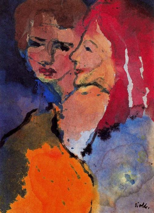 due signore di Emile Nolde (1867-1956, Germany)