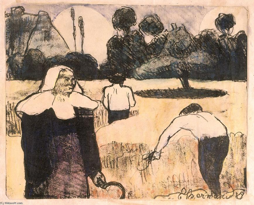 Le moissonneur (The Harvester) di Emile Bernard (1868-1941, France)