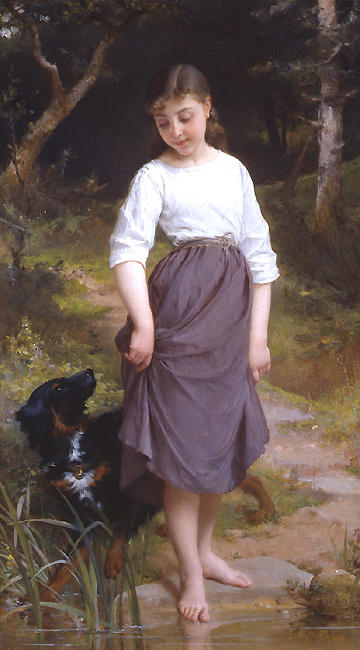 Testare l acqua di Emile Munier (1840-1895, France)