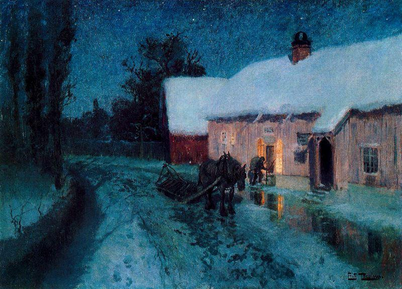 Notte di Frits Thaulow (1847-1906, Norway)