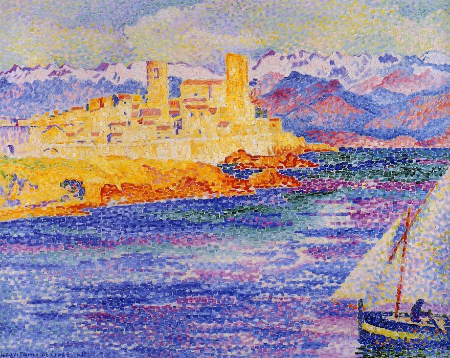 Antibes di Henri Edmond Cross (1856-1910, France)