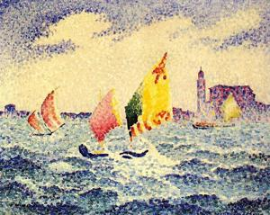 Henri Edmond Cross - Barche a vela vicino a Chicago