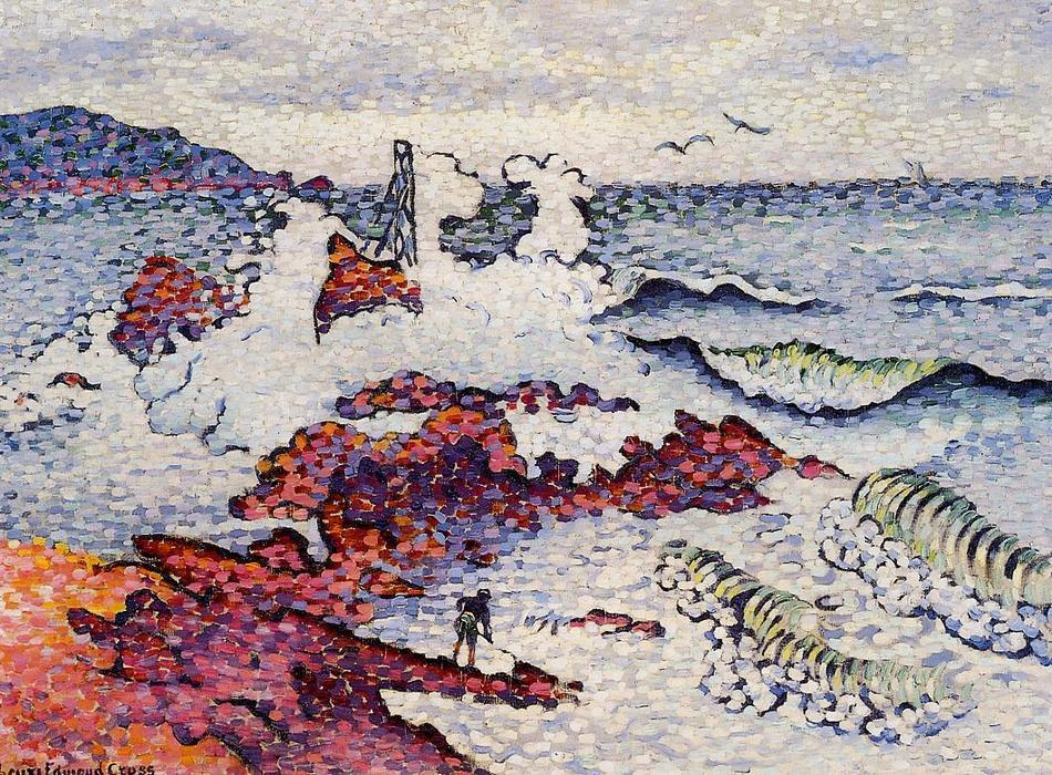 Il Mediterraneo, East Wind, olio su tela di Henri Edmond Cross (1856-1910, France)