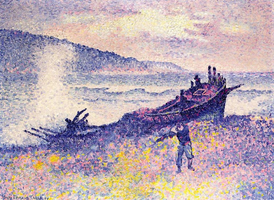 Il Relitto, olio su tela di Henri Edmond Cross (1856-1910, France)