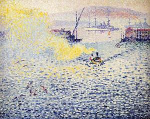 Henri Edmond Cross - Tolone Inverno  mattino