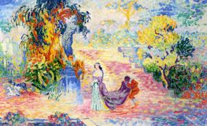 Henri Edmond Cross - Donna in un parco