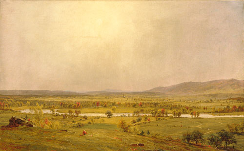 Pompton Plains, New Jersey di Jasper Francis Cropsey (1823-1900, United States)