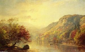 Jasper Francis Cropsey - fiume in autunno