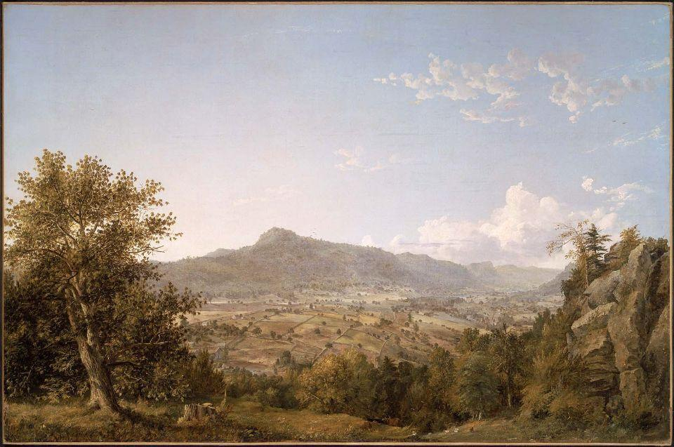 schatacook montagna , Housatonic Valle , Nel connecticut di Jasper Francis Cropsey (1823-1900, United States)