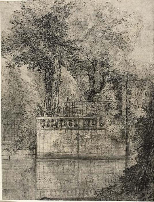 Lavoro Lattice e Reflecting Pool a Arcueil di Jean-Baptiste Oudry (1686-1755, France)