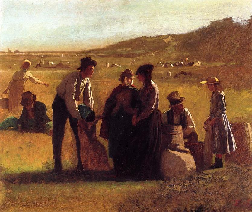 Cranberry Pickers di Jonathan Eastman Johnson (1824-1906, United Kingdom)