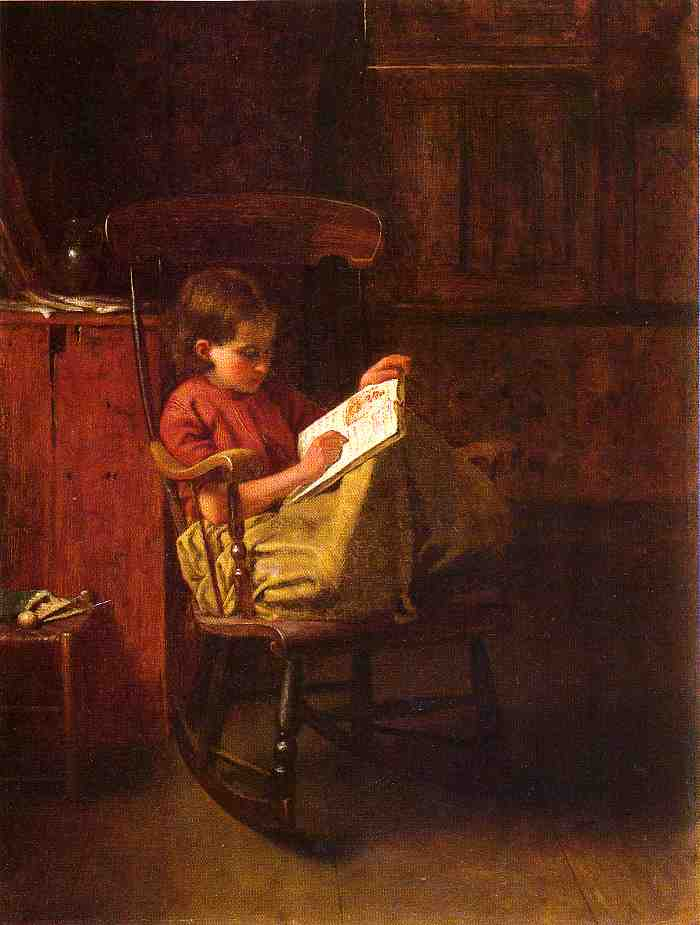 Il Boston Rocker di Jonathan Eastman Johnson (1824-1906, United Kingdom) | Copia Pittura | ArtsDot.com