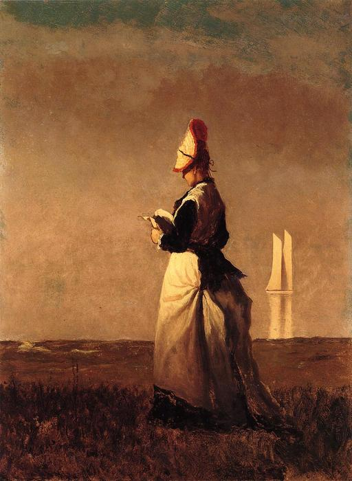 donna leggere di Jonathan Eastman Johnson (1824-1906, United Kingdom) | ArtsDot.com