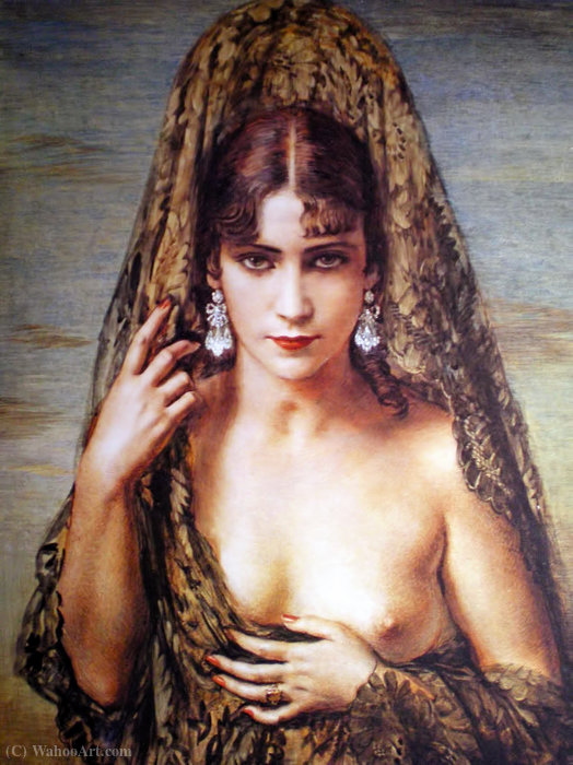 Idolo eterno di Jorge Apperley (George Owen Wynne Apperley) (1884-1960, United Kingdom)