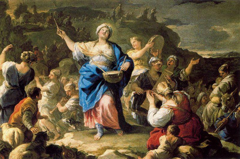 Song of Miriam 1 di Luca Giordano (1634-1705, Italy)