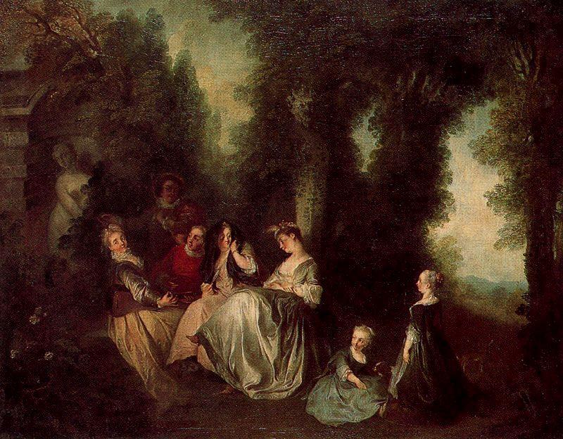 giardino party di Nicolas Lancret (1690-1743, France)