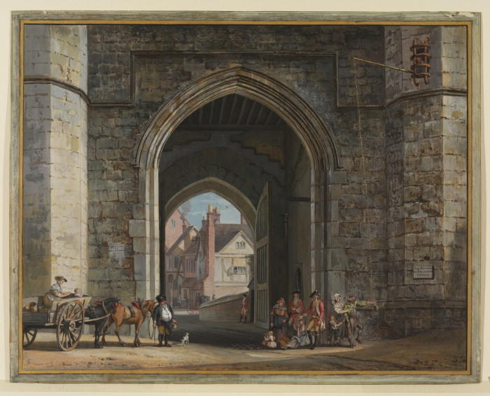 Enrico VIII Gateway, Castello di Windsor di Paul Sandby (1798-1863, United Kingdom)