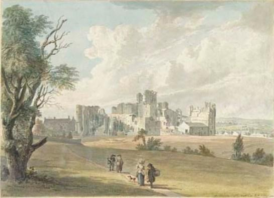 Castello di Middleham, Yorkshire di Paul Sandby (1798-1863, United Kingdom)