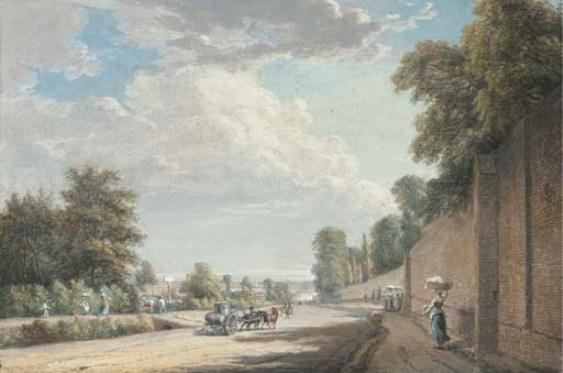 The Road Bayswater, Paddington di Paul Sandby (1798-1863, United Kingdom) | ArtsDot.com