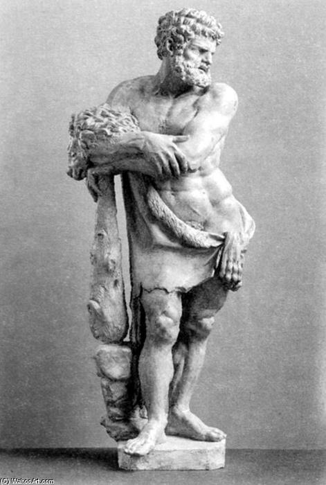Hercules in piedi, terracotta di Pierre Puget (1620-1694, France)