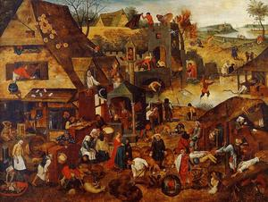 Pieter Bruegel The Younge.. - Fiamminghi Proverbi