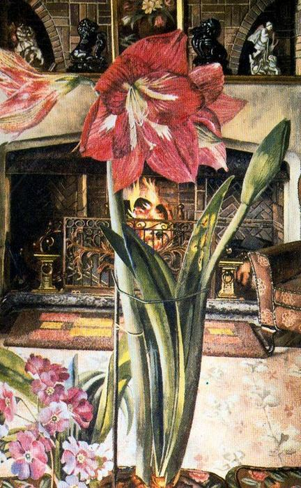 Amaryllis in Chauntry Court di Stanley Spencer (1891-1959, United Kingdom) | Riproduzione Art | ArtsDot.com