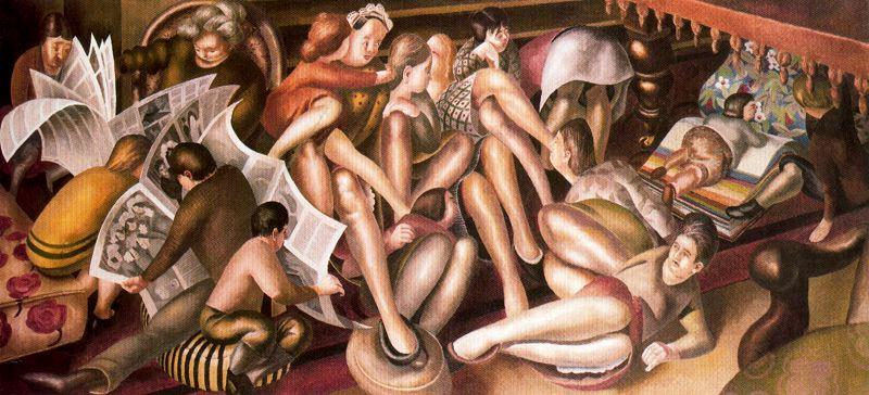 Damigelle d onore a Cana di Stanley Spencer (1891-1959, United Kingdom)