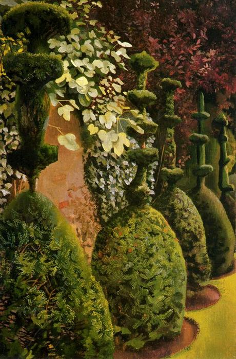 Yews Clipped di Stanley Spencer (1891-1959, United Kingdom)
