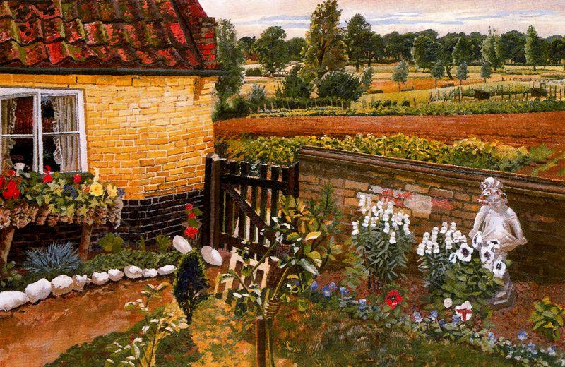Cottage a Wangford di Stanley Spencer (1891-1959, United Kingdom)