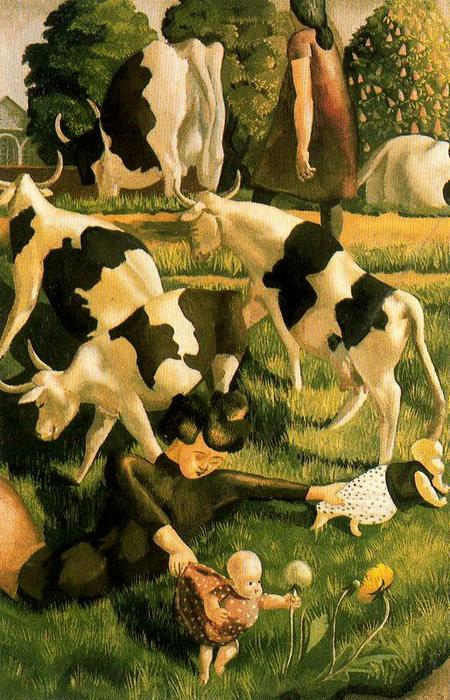 Mucche a Cookham di Stanley Spencer (1891-1959, United Kingdom)