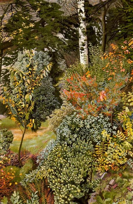 scene garden . port glasgow di Stanley Spencer (1891-1959, United Kingdom)