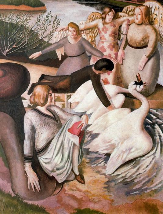 Separazione Swans Fighting di Stanley Spencer (1891-1959, United Kingdom)