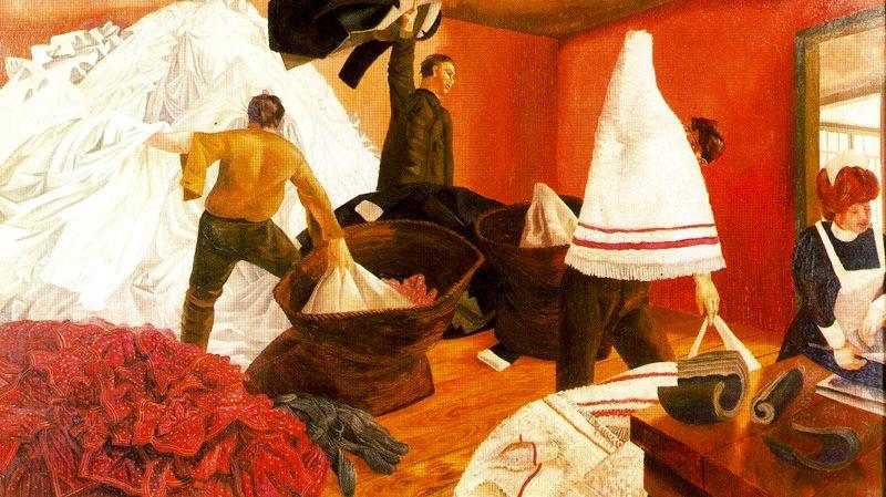 Ordinamento lavanderia di Stanley Spencer (1891-1959, United Kingdom)