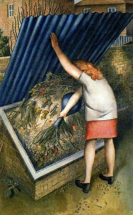 La pattumiera, Cookham di Stanley Spencer (1891-1959, United Kingdom)