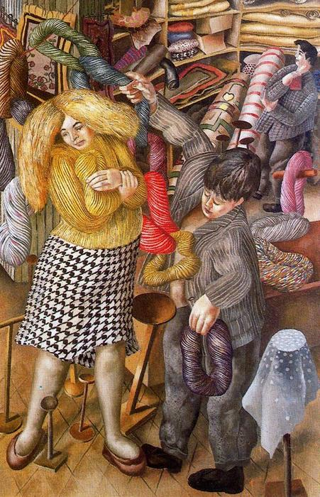 Il Woolshop di Stanley Spencer (1891-1959, United Kingdom)