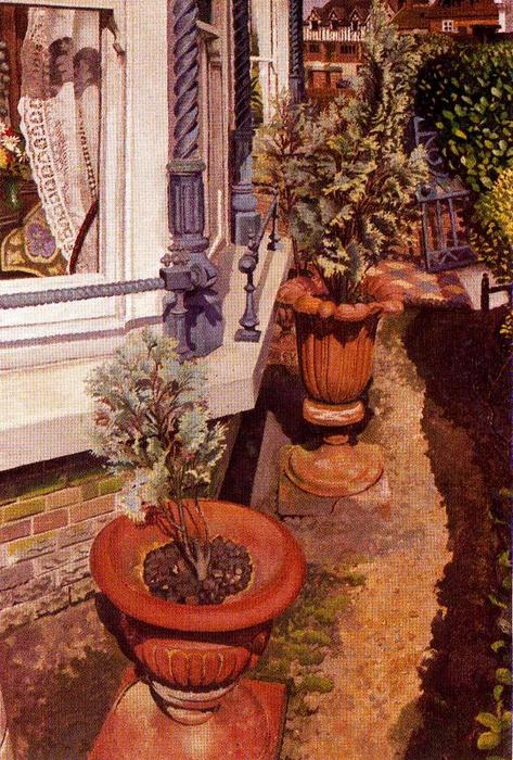 Villas at Cookham di Stanley Spencer (1891-1959, United Kingdom) | Riproduzioni Di Qualità Del Museo | ArtsDot.com