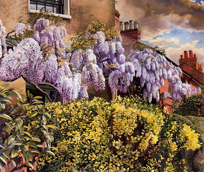 Wisteria. Cookham di Stanley Spencer (1891-1959, United Kingdom)