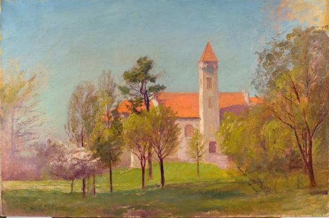 Campus Tower di Theodore Clement Steele (1847-1926, United States)
