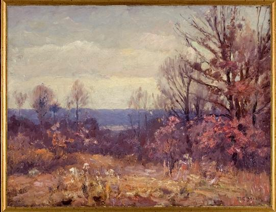 Novembre Skies di Theodore Clement Steele (1847-1926, United States)